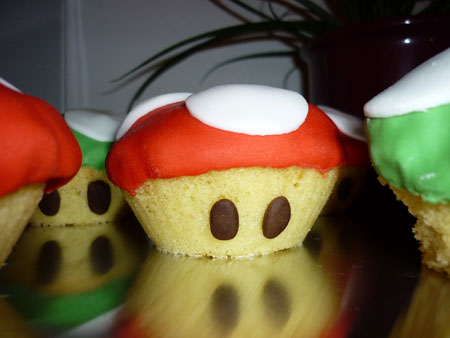 super mario pilz muffins. Black Bedroom Furniture Sets. Home Design Ideas